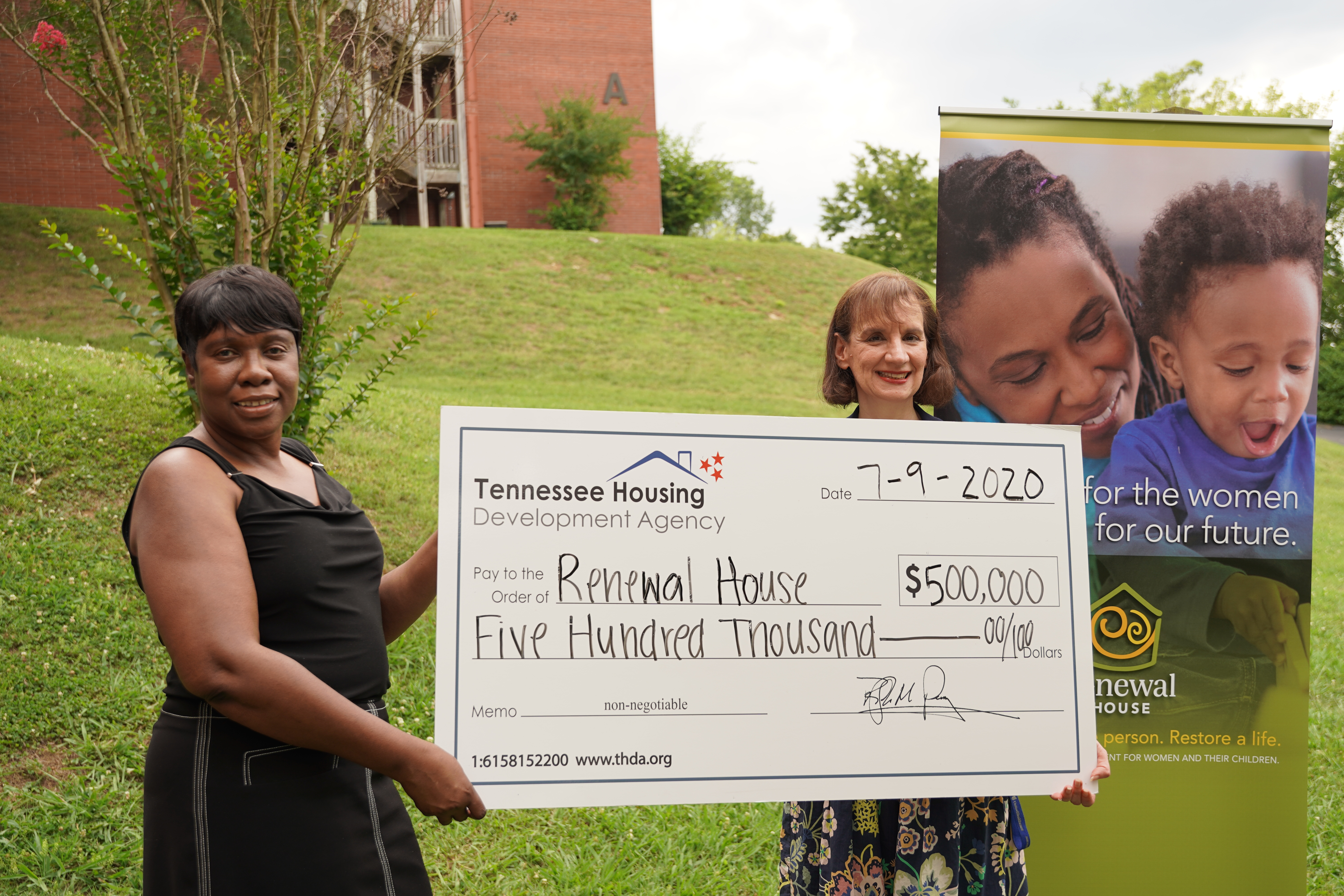 THDA awards Renewal House grant for transitional housing